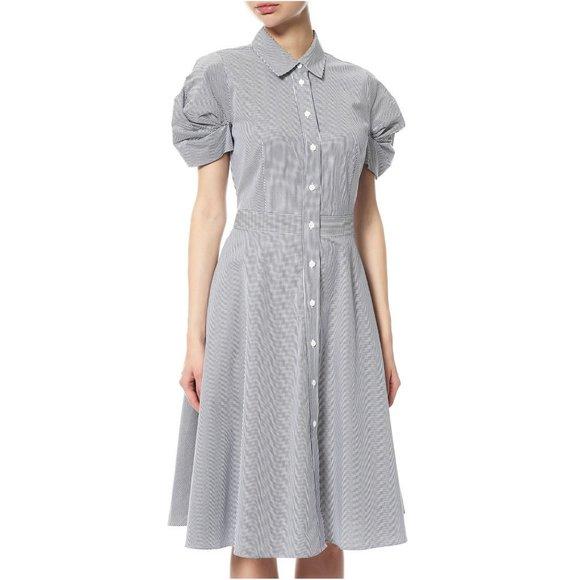 DKNY Dresses & Skirts - NWT Donna Karan Striped Balloon Sleeve Shirt Dress